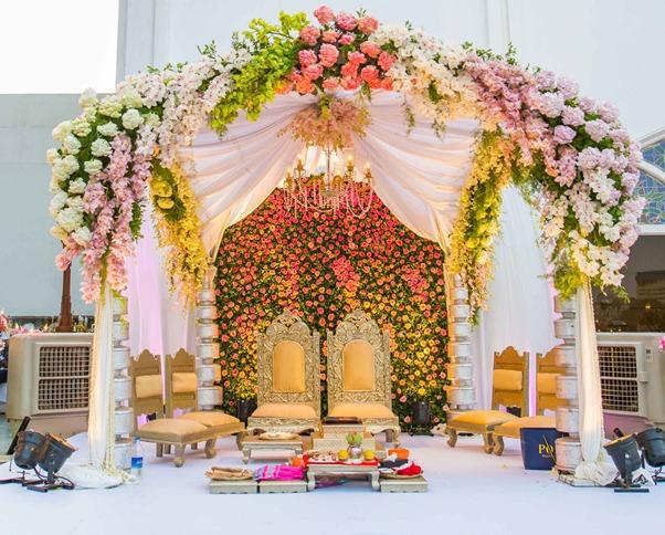 Floral Backdrop Mandap