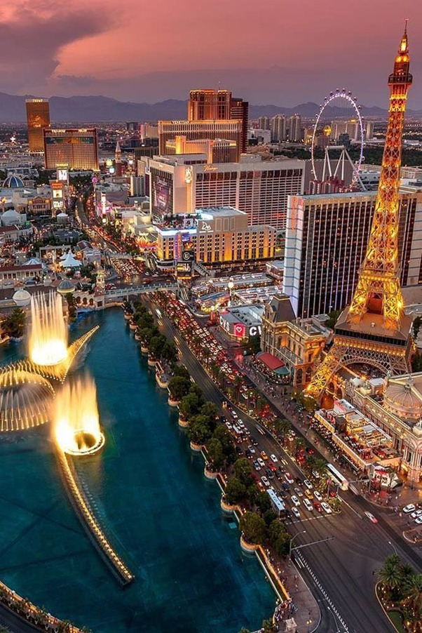honeymoon location in Las Vegas